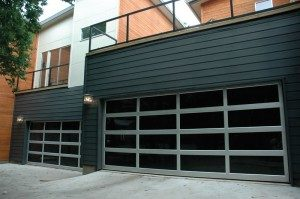 contemporary style glass garage door gilbert az